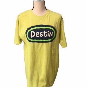 Destin yellow Vacation Tee Sz M